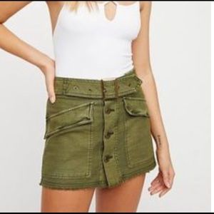 Free people mini skirt with belt
